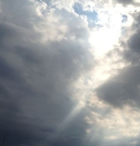 """""""Those clouds are angels' robes."""" - Charles Kingsley"""